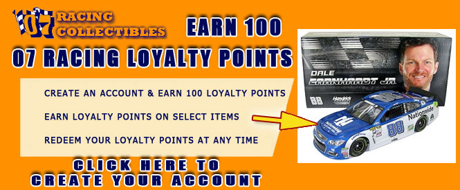 07 Racing Collectibles Loyalty Points Banner