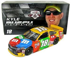 Kyle Busch #18 1/24th 2016 Lionel M and Ms Toyota Camry