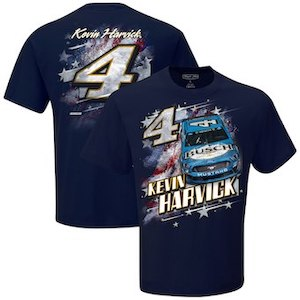 Kevin Harvick #4 2019 Busch Beer Patriotic navy blue t-shirt