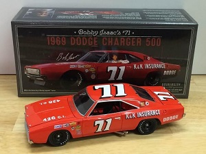 Bobby Isaac #71 1/24th 1969 K&K Insurance Dodge Charger 500 University of Racing Legends