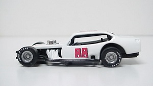 Mike Loescher #88 1/64th custom-built Vega modified race car