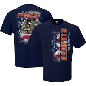 Chase Elliott #9 2019 NAPA Patriotic navy blue t-shirt